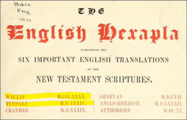 English-Hexapla-1841-title-page